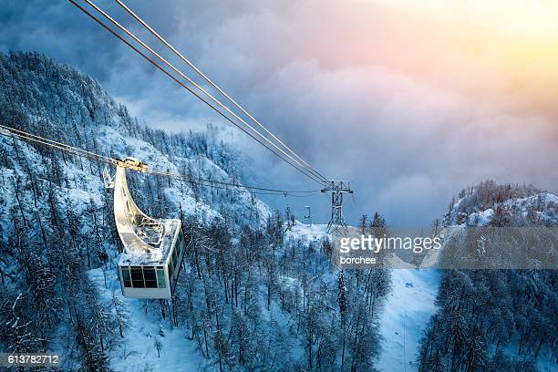 Cable Car Above The Fog