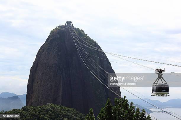 Cable car at Sugarloaf Mountain Pao de Acucar Rio de Janeiro Brazil