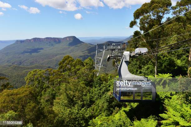 cable car, blue mountains, new south wales, australia - katoomba stock pictures, royalty-free photos & images
