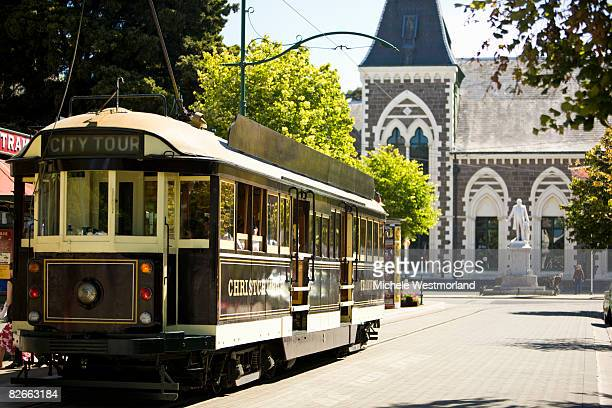 cable car, christchurch, new zealand - christchurch new zealand stock pictures, royalty-free photos & images