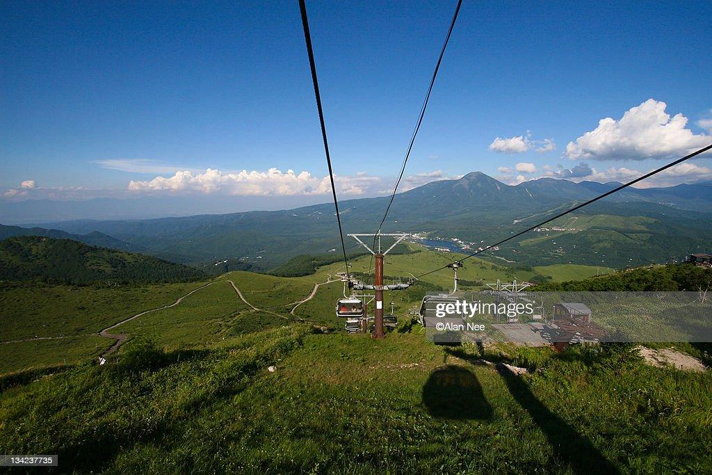 Cable Car in Mountains of Nagano : Foto de stock