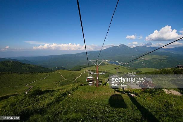 cable car in mountains of nagano - nee nee fotografías e imágenes de stock