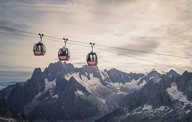 Cable Car In The Alps Wall Art