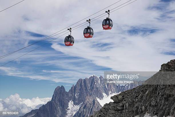 Cable car in the Alps