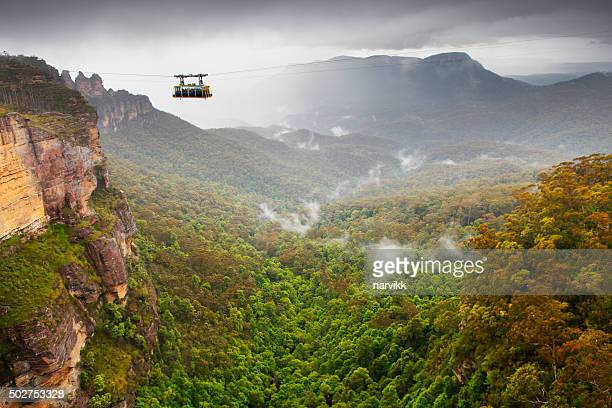 cable car in the blue mountains - katoomba stock pictures, royalty-free photos & images