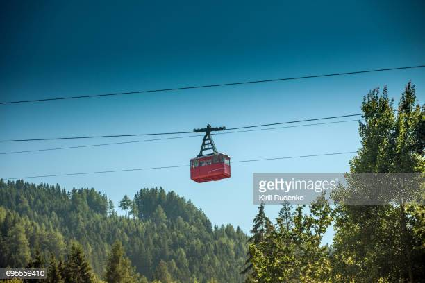 A cable car in the mountains near Innsbruck, Tyrol, Austria