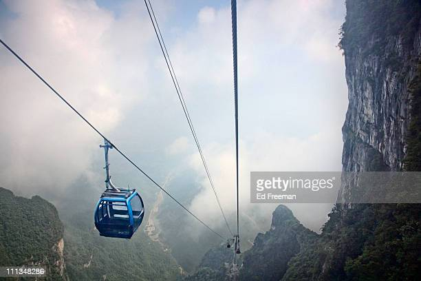 Cable Car in Tianmen Forest National Park