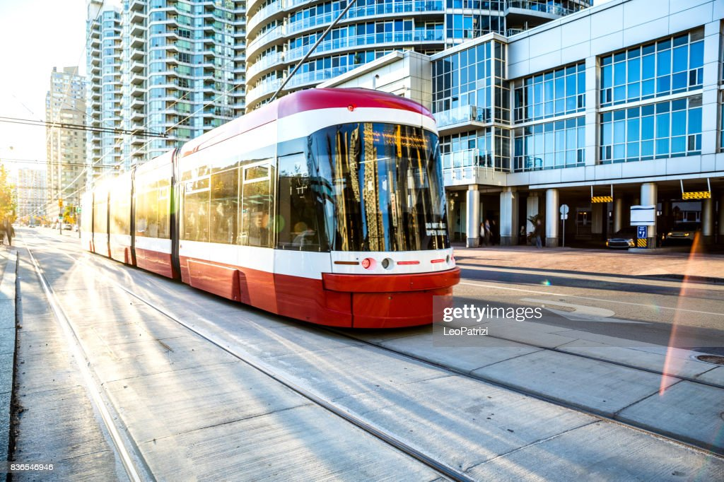 Cable car in Toronto city downtown : Stock Photo