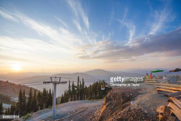 cable car lift in whistler - whistler british columbia stock pictures, royalty-free photos & images