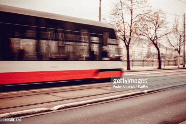 cable car on road in city - fedor stock pictures, royalty-free photos & images