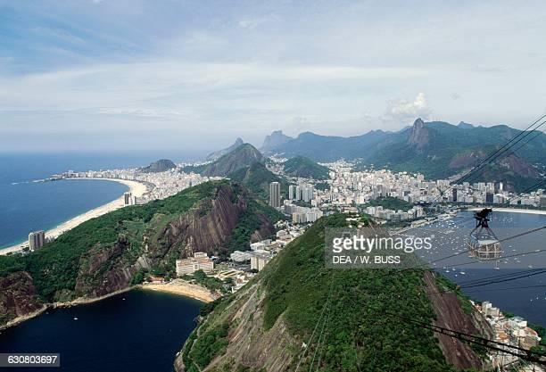 Cable car on the Sugar Loaf Rio de Janeiro Brazil