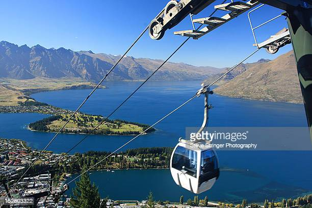 cable car - queenstown stock pictures, royalty-free photos & images