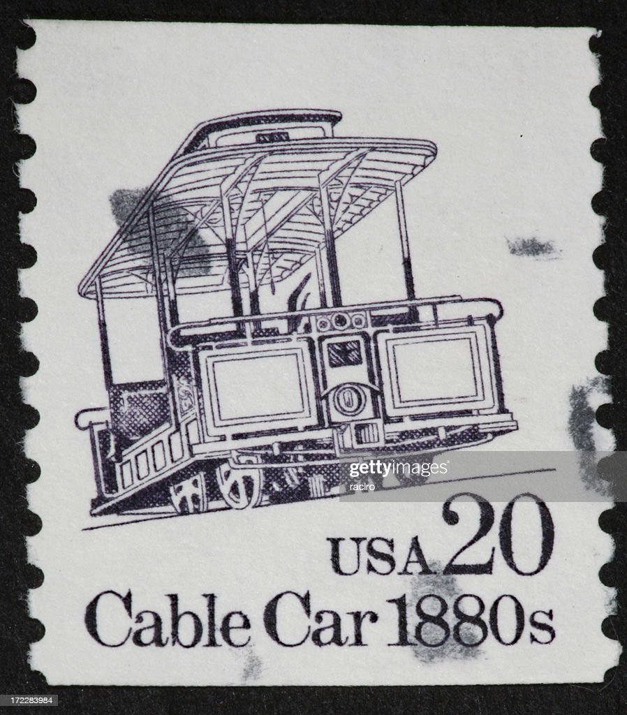 Cable Car Postage Stamp Stock Photo | Getty Images