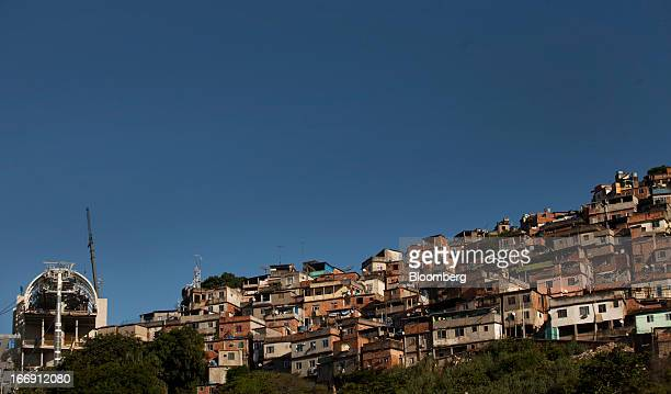 Cable car station stands next to the Providencia slum in Rio de Janeiro, Brazil, on Tuesday, April 16, 2013. Scheduled to open to the public in April...