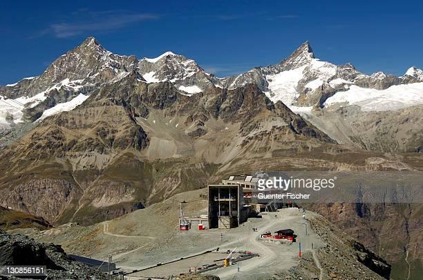 Cable car station Trockener Steg, Swiss Alps, Zermatt, Valais, Switzerland