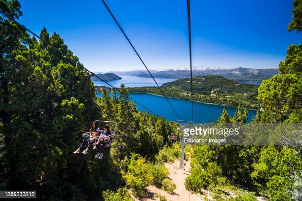 Cable car teleferico at Cerro Campanario, Campanario Hill, Bariloche, aka San Carlos de Bariloche, Rio Negro Province, Patagonia, Argentina, South...