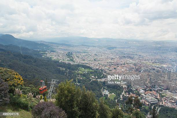 Cable car to Monserrate peak, Bogota, Colombia
