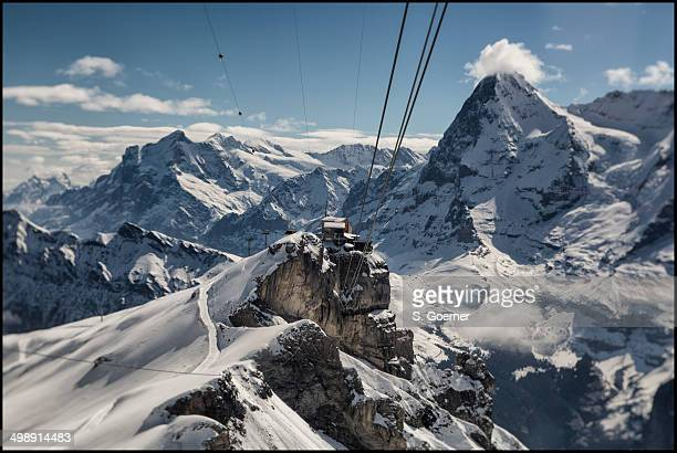Cable car to mount Schilthorn