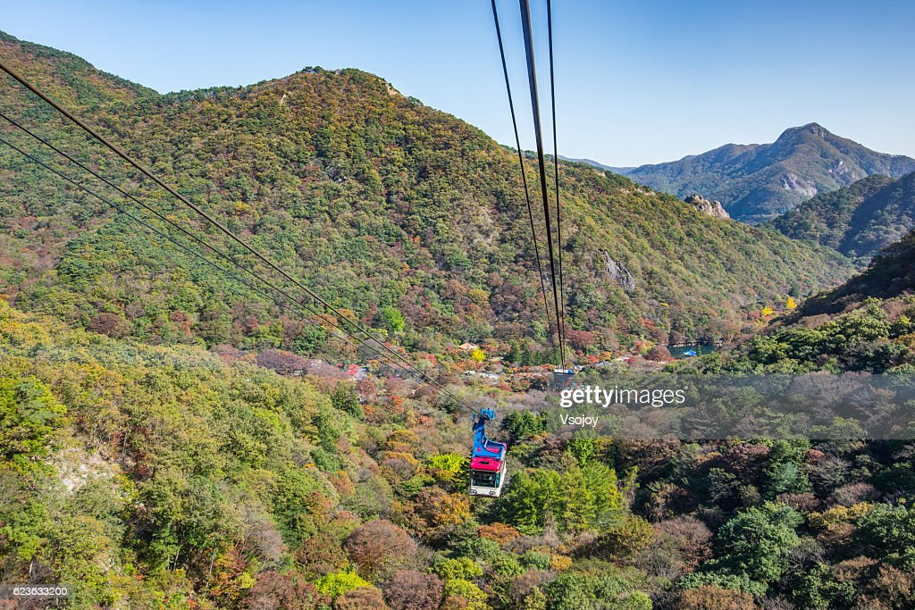 Cable Car To The Top Of Naejangsan Jeongeup Jeollado Korea High Res Stock Photo Getty Images