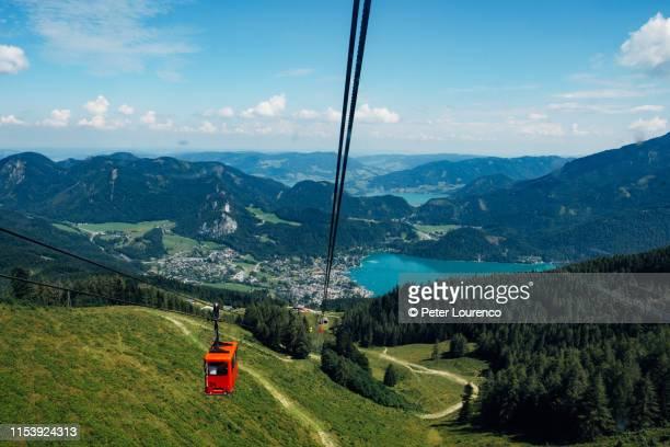 cable car view, austria - peter lourenco bildbanksfoton och bilder