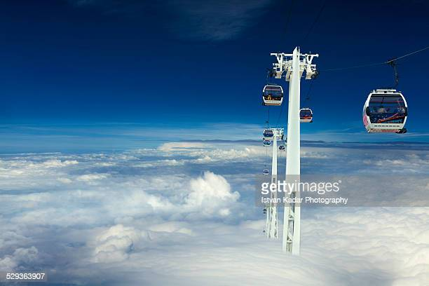 Cable Cars Above the Clouds
