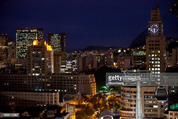 Cable cars are tested at a station in Rio de Janeiro, Brazil, on Tuesday, April 16, 2013. Scheduled to open to the public in April 2013, the cable...