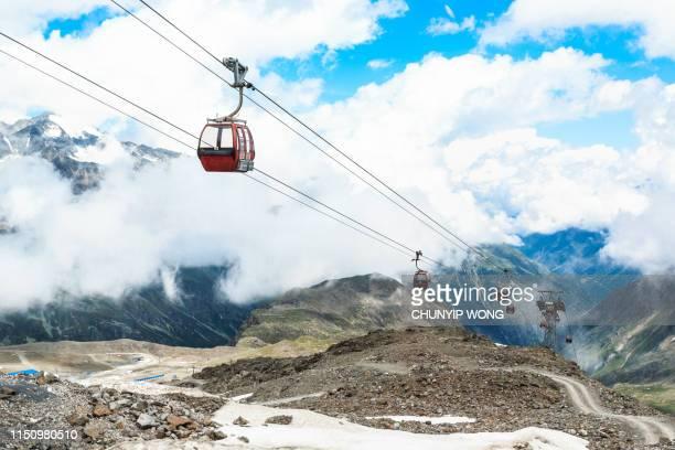 Cable -Cars in Stubai Glacier