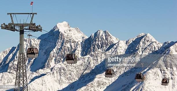 Cable -Cars in Stubai Glacier