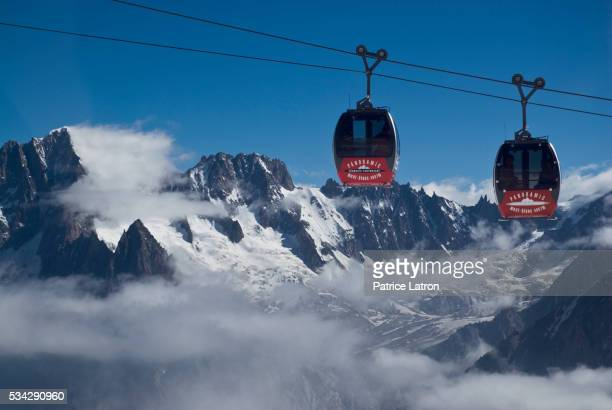 Cable Cars on Mont Blanc