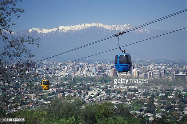 Cable Cars Over Santiago
