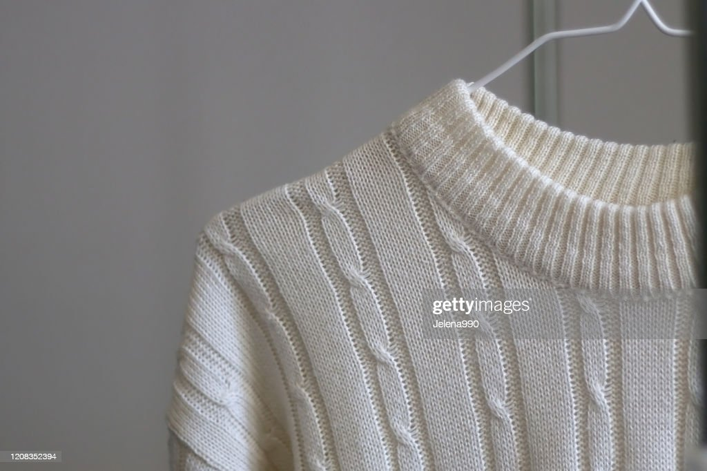 Cable Knit Sweater : Stock Photo