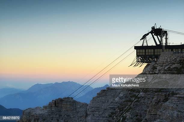 Cable lift on Sass Pordoi, 2950m, Dolomites