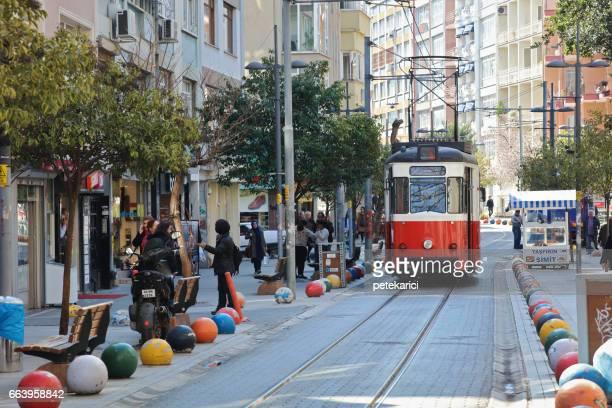 cable railway bahariye street in kadikoy - kadikoy stock photos and pictures
