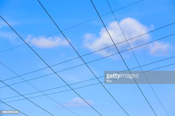 Cables of an electricity pylons
