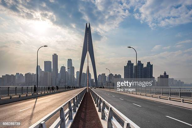 Cable-Stayed Bridge Over the Yangtze River in Chongqing