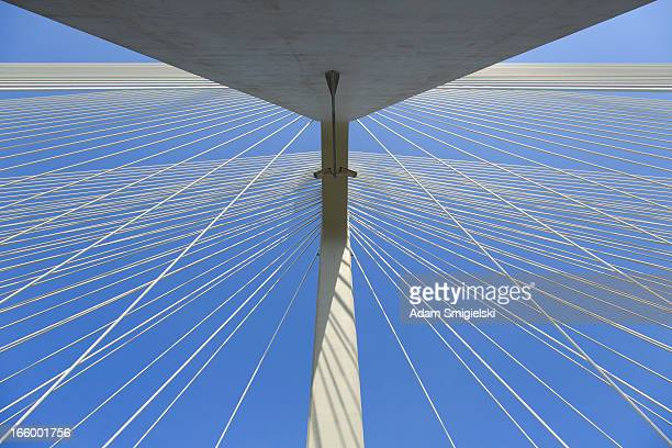 cable-stayed bridge - bridge built structure stock pictures, royalty-free photos & images