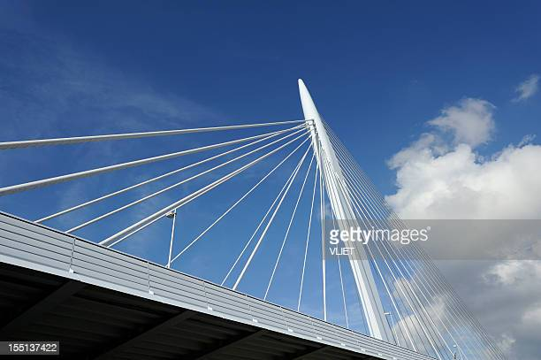 Cable-stayed bridge Prins Clausbrug in Utrecht the Netherlands