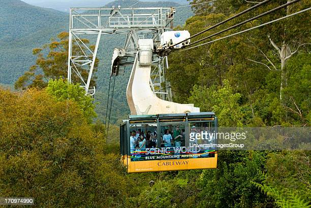 Cableway cable car Scenic World Katoomba Blue Mountains National Park Blue Mountains New South Wales NSW Australia