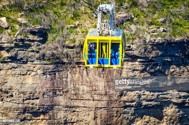 cableway in blue mountains, katoomba, new south wales, australia - katoomba stock pictures, royalty-free photos & images