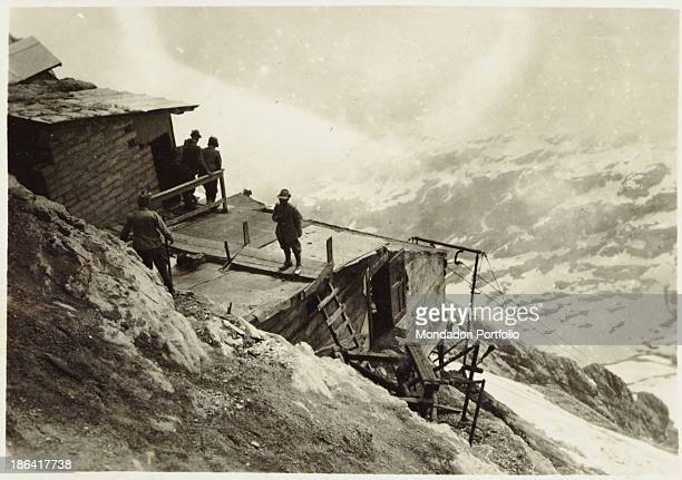 ARMY A cableway station on Tofane Italy 1917 Gelatine process Rome Central Museum of the Risorgimento