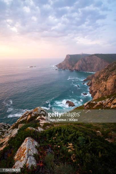 cabo da roca - rocky coastline stock pictures, royalty-free photos & images