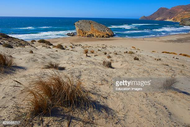 Cabo De Gata Monsul Beach Biosphere Reserve Gatanijar Natural Park Almeria Andalusia Spain