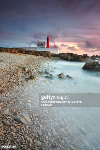 Cabo Raso Lighthouse located in coastline of Cascais bay in Portugal