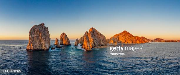 cabo san lucas aerial view - cabo san lucas stock pictures, royalty-free photos & images