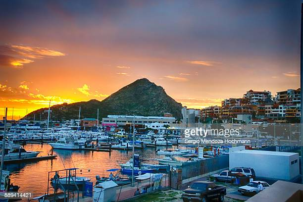 cabo san lucas at sunrise - cabo san lucas stock pictures, royalty-free photos & images