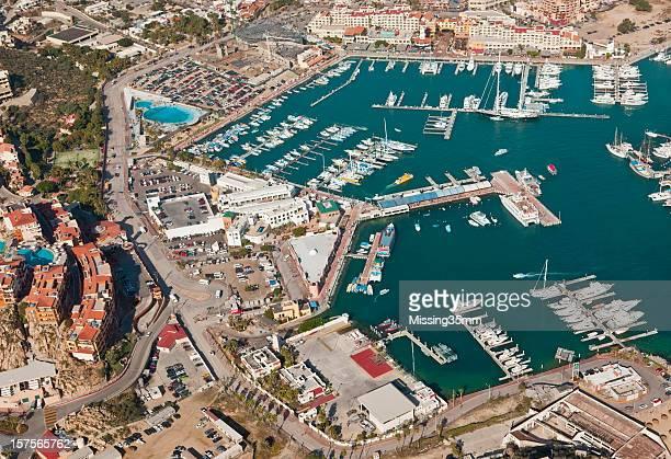Cabo San Lucas et vue sur la Marina-vue aérienne