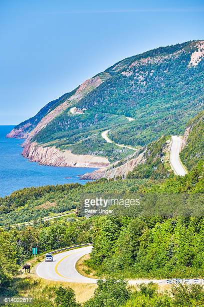 cabot trail highway, cape breton - cape breton island stock pictures, royalty-free photos & images