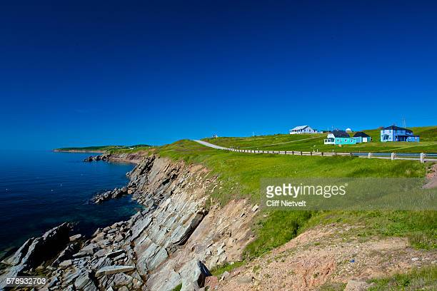 cabot trail near cheticamp - nova scotia stock pictures, royalty-free photos & images
