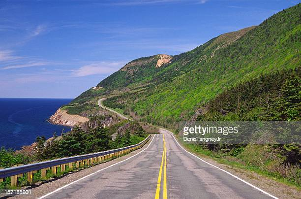 cabot trail nova scotia - nova scotia stock pictures, royalty-free photos & images