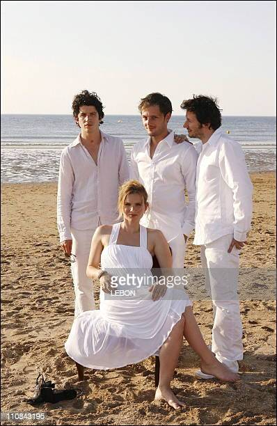 Cabourg Romantic Film Festval France In Cabourg France On June 10 2006 Richaud Valls Sophie Quinton Nicolas Duvauchelle Gerald Hustache Matthieu...